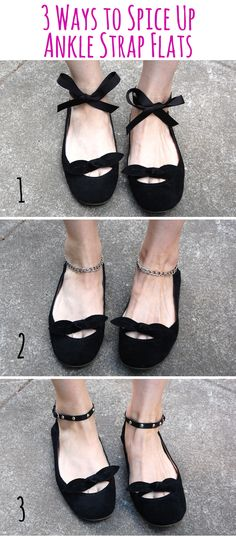 DIY ankle strap shoes