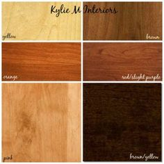 how to mix and match cherry, oak and maple wood stains for flooring, cabinets and furniture