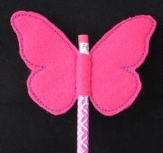 Butterfly Pencil Topper Pink and Purple by MommaBSews on Etsy
