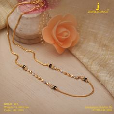 Gold 916 Premium Design Get in touch with us on Gold Chain Design, Gold Jewellery Design, Handmade Jewellery, Fancy Jewellery, Vintage Jewellery, Gold Mangalsutra Designs, Diamond Mangalsutra, Gold Jewelry Simple, Long Pearl Necklaces