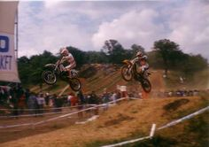 Bob moore and Yves Demaria in 1991