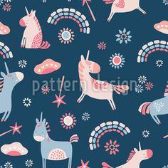 Unicorns And Rainbows Repeating Pattern Vector Pattern, Pattern Design, Cute Unicorn, Repeating Patterns, Mythical Creatures, Unicorns, Rainbows, Fairytale, Onesies