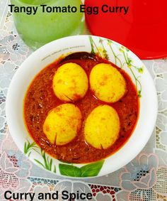 Curry And Spice Tangy Tomato Egg Curry