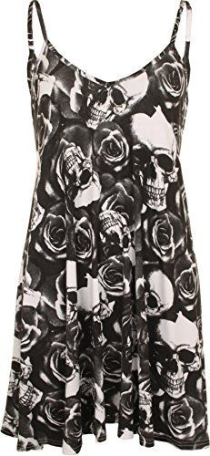 Plus Size Womens Printed Strappy Sleeveless Ladies Mini Dress Vest Top - 16-26 In a variety of prints from pretty florals to bright neons, these dresses are the perfect update to your summer wardrobe, whatever your style! The flared swing fit and soft fabric makes these dresses cool and comfortable to wear – simply style with sandals for a summery casual look, or layer over leggings on cooler evenings. Note: Despite every effort to accurately depict each product'