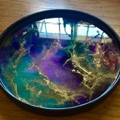 Made-to-Order Hand-Painted Acacia Tray - Functional Art - Art Tray - Abstract Art - Resin Art - Home Decor Diy Resin Tray, Epoxy Resin Art, Diy Resin Crafts, Wood Resin, Acacia, Nintendo Console, Coaster Art, Alcohol Ink Painting, Wood Tray