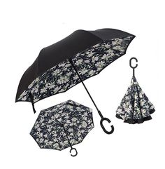Upside Down Umbrellas with C-Shaped Handle for Women and Men Reverse Inverted Windproof Cat In Box Military Camouflage Pattern Pet In Cardboard Box Umbrella Double Layer Umbrella