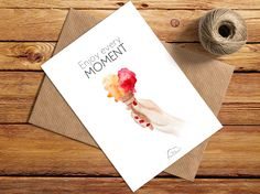 Printed Watercolor cards Ice cream in hand Enjoy by WhiteWildRose