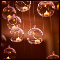 Floating bubble candles