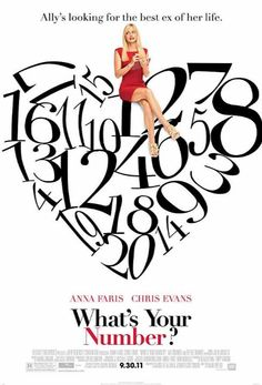 Directed by Mark Mylod. With Anna Faris, Chris Evans, Ari Graynor, Blythe Danner. Whats Your Number Movie, What's Your Number, Magic Number, Anna Faris, John Malkovich, Romantic Comedy Movies, Romance Movies, Chris Evans, Chris Hemsworth Movies