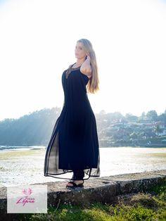 Vestido largo con pedreria en escote http://irenelopez.es/mujer/324-vestido-largo-pedreria.html