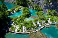 The oldest park in Southeast Europe and the largest national park in Croatia, Plitvice Lakes National Park is known for its cascading lakes. The lakes dazzle with their vast array of beautiful colors, which range from green to blue.  Source: Shutterstock