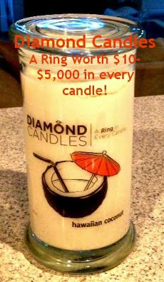 A ring worth $10-$5000 in every candle? Who comes up with this stuff?