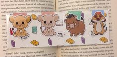 This little cutie will keep you company and hold your place in any book! Theyll probably make reading textbooks a little more fun too :)  Bookmarks