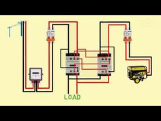 automatic changeover switch for generator - YouTube Electrical Plan Symbols, Basic Electrical Wiring, Electrical Circuit Diagram, Electrical Projects, Electrical Installation, Electrical Engineering, Arduino Stepper Motor Control, 30 Days Of Hiit, Muay Thai Techniques