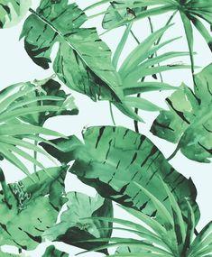 Jungle Behang licht groen - Dit jungle behang komt haast tot leven door de lichte, frisse kleuren en door de beestjes die op de bladeren zitten. Geschikt om je eigen urban garden in huis mee te creëren.