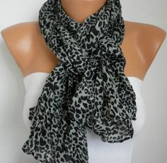 Leopard Women Shawl Scarf  Headband Necklace Cowl by fatwoman, $13.50