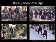 Rural and Mountain Ops