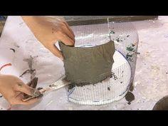 DIY – ❤️ Cement craft ideas ❤️ – beautiful and easy – flower pot – … Bricolage – … Jute Crafts, Concrete Crafts, Concrete Projects, Easy Diy Crafts, Diy Projects, Diy Cement Planters, Cement Flower Pots, Cement Garden, Video Gospel