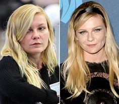Kirsten Dunst - LEFT: shopping at Bloomingdale's in Soho neighborhood of NYC on Sept. 27, 2013 - RIGHT: at the 24th Annual GLAAD Media Awards in L.A. On April 20, 2013