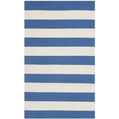 Safavieh Hand-woven Montauk Blue/ White Cotton Rug (2'6 x 4')