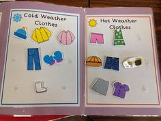 Sorting winter vs. summer clothes Being able to identify what item goes where is a big deal. For example: If you are sick would you go see the doctor or an artist? Some children may not understand this basic need. Survival or life skills are then most important to teach these children while teaching them literacy, math, and other social skills. Folder activities are great for any student at any learning level.