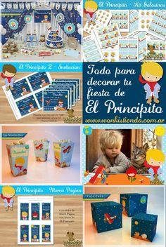 Decora tu  fiesta de El Principito con WonkisTienda! invitacion - etiquetas para golosinas - material decorativo - cajas decoradas ... ENCUENTRA TODO AQUÍ: http://www.wonkistienda.com.ar/el-principito