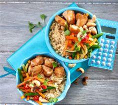 Low carb cauli-rice and chicken stir-fry.