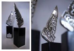 The Wing [Silver Sculpture] by KAHROBA Design , via Behance