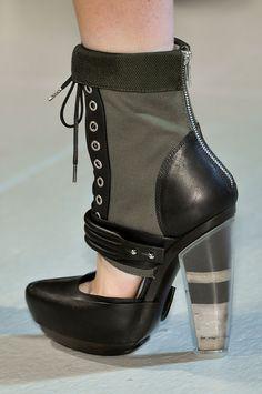Rodarte Cut-Out High Heeled Modern Lace-Up Zip-Back Platform Bootie fall 2012