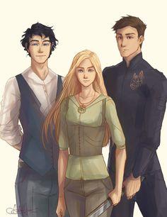 Dorian, Celaena, and Chaol