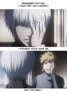 Kaneki and Hide : I swear the feels why why why why did u have to go T^T