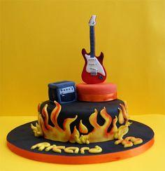 GuitarMusic_01 guitar guitarra music musica pastel tarta cake
