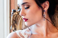 A sumptuous bridal styled shoot with some of our jewelry to accentuate a bride on her wedding day. Bespoke Jewellery, Bridal Shoot, Innovation Design, Beautiful Bride, Old World, Wedding Day, Drop Earrings, Jewels, Traditional