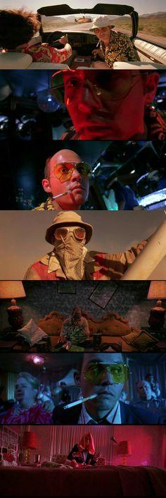 """Johnny Deep as Raoul Duke in """" Fear and Loathing in Las Vegas """"(1998)."""