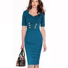 work button dress