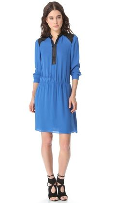 Parker Leather Trim Dress. Loose silhouette should work. $85 at ShopBop.