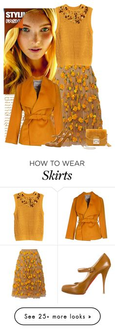 """""""amber"""" by bodangela on Polyvore featuring Michael Kors, H&M, MARY JANE, Christian Louboutin and Furla"""