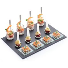 Treat your guests to a selection of appetisers with the stylish Petit Bites Seventeen Piece Appetiser Gift Set. Guaranteed to add the Food Platters, Serving Platters, Food Stations, Cold Meals, Mini Foods, Appetisers, Appetizers For Party, Party Canapes, Dinner Parties