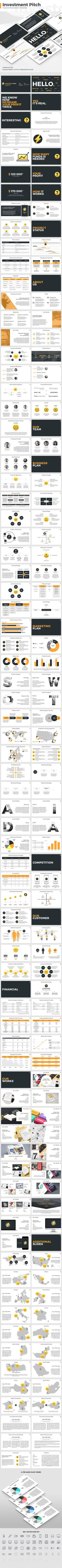 Investment Pitch - Keynote Template - Business #Keynote #Templates Download here: https://graphicriver.net/item/investment-pitch-keynote-template/19491785?ref=alena994