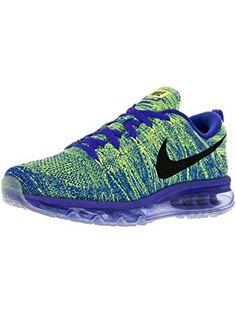 Nike Men's Flyknit Max Racer Blue/Black/Volt/Chlk Bl Running Shoe 10 Men US ❤ Nike