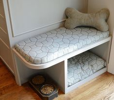 Pooches like to be cozy, but they also want to keep you within sight. Under benches, in kitchen islands, in open cabinet bases—all are perfect spots for built-in sleep nooks.  Create a relaxing spot in little space with a Murphy bed for your dog. Keep your furry friend safe in the shade with our outdoor dog bed DIY.