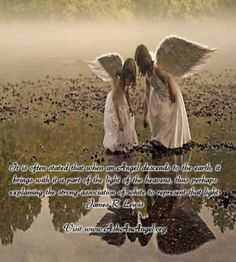 It is often stated that when an Angel descends to the earth, it brings with it a part of the light of the heavens, thus perhaps explaining the strong association of white to represent that light.  James R. Lewis