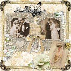 scrapbooking layouts for weddings | Victorian Wedding digital scrapbooking quickpage photo tempate album ...
