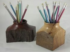 Pencil pot for wood turning
