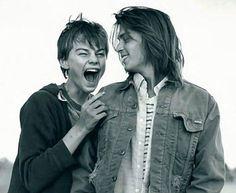 Johnny Depp and Leonardo DiCaprio in What's Eating Gilbert Grape?