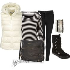 Stylish Eve 2013 Winter Outfits: Black, White, and Fabulous