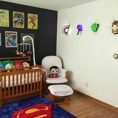 Baby nursery superheroes avengers marvel superman baby boy - Visit to grab an amazing super hero shirt now on sale! 20 Latest Trend of Cute Baby Boy Room Ideas 20 Newest Development of Cute Child Boy Room Concepts - Design İdeas I need all these lights f