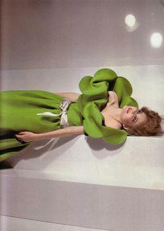 Pea Green Dress - Guy Bourdin