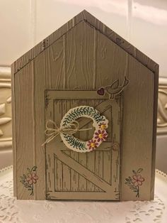 Fancy Fold Cards, Folded Cards, Door Crafts, Paper Crafts, Fall Cards, Christmas Cards, Barn Door Sliders, Slider Cards, Window Cards