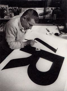 R - Paul Renner.   This is what we had to do to get into the university design program – paint a perfect letter R.